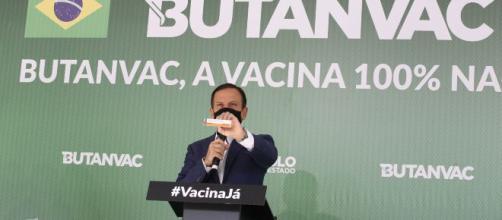 Doria disse que vacina não necessita de importação de ingredientes para sua produção (Divulgação/Governo do Estado de São Paulo)