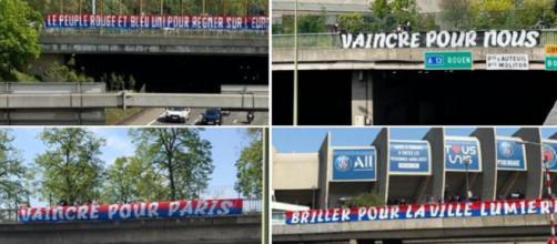 PSG - Manchester City : Des banderoles de soutien fleurissent dans Paris (Source : Twitter officiel Collectif Ultras Paris)
