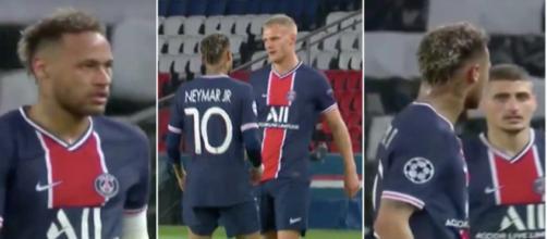 Neymar a beaucoup parlé avec Bakker face à City. (montage Blasting, crédit : capture vidéo RMC Sport)