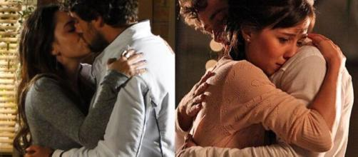 Rodrigo ficará divido entre Ana e Manu em 'A Vida da Gente' (Fotomontagem/Reprodução/Rede Globo)