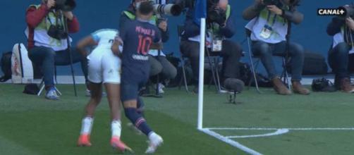 Le carton rouge de Neymar - Photo capture d'écran vidéo Canal