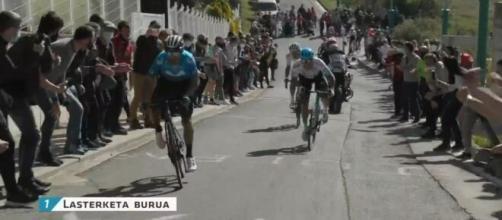 Lo scatto vincente di Valverde al Gp Indurain