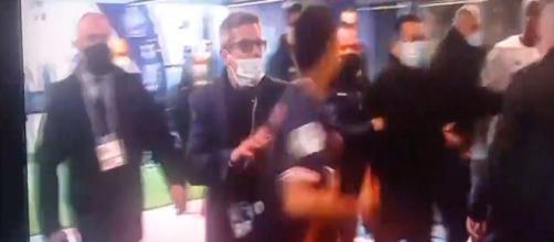 Neymar et Djalo se sont presque battus dans les vestiaires. (capture d'écran)