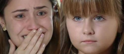 Ana e Júlia em 'A Vida da Gente'. (Fotomontagem)
