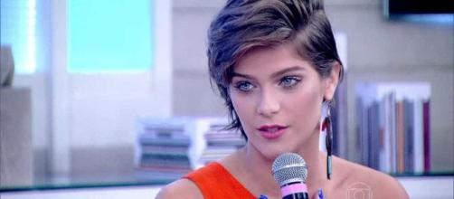 Isabella Santoni nasceu em maio (Reprodução/TV Globo)