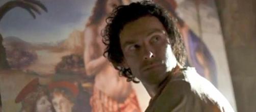 Aidan Turner in Leonardo 2021 TV series (Image source: Lux Vide)