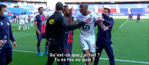 L'altercation de Neymar et Djalo - Source : Photo capture d'écran