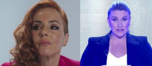 Rocío Carrasco habla del terror nocturno a Carlota Corredera y la hace llorar. (Fotos de Twitter: @telecincoes)