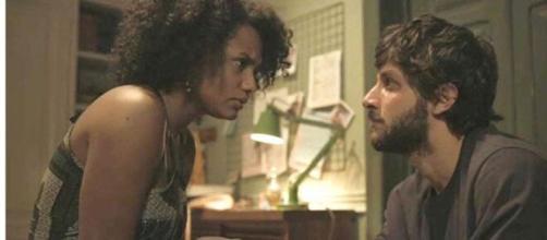 Camila e Danilo em 'Amor de Mãe' (Reprodução/TV Globo)