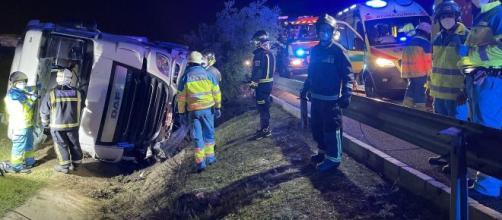 Camión volcado en Getafe (@112cmadrid)