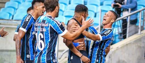 Grêmio teve amostrar interessantes no GreNal 430 (Lucas Uebel/Grêmio FBPA)