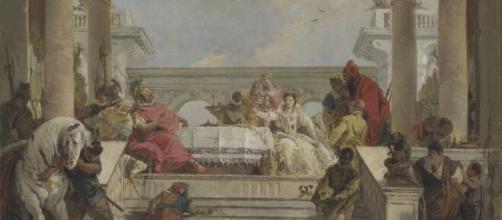 L'affresco 'Banchetto di Antonio e Cleopatra'.