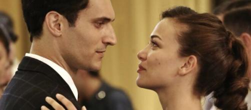Marta e Vittorio in una scena de Il Paradiso delle Signore