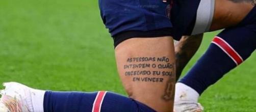 Neymar poste la photo d'un tatouage pour répondre aux critiques (Credit Instagram : @neymarjr)