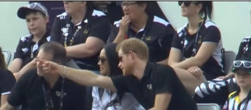 Prince Harry, Meghan Markle make public debut as couple at Invictus Games (Image source: CityNews Toronto/YouTube)