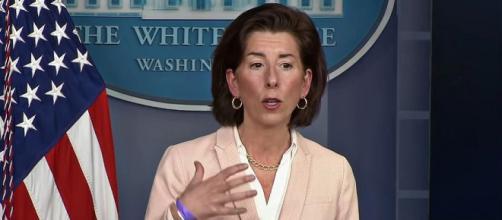 Commerce Secretary Gina Raimondo said the 2017 tax cuts had not benefited the economy (Image source: The White House/YouTube)