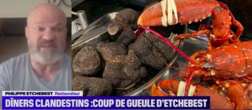 Dîners clandestins : l'énorme coup de gueule de Philippe Etchebest - Photo capture d'écran Vidéo BFM