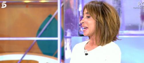 María Patiño, este miércoles en 'Sálvame' (Captura de Telecinco)