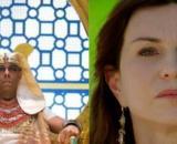 Faraó e Sarai em 'Gênesis'. (Fotomontagem)