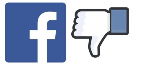 Facebook lawsuit, Facebook logo and thumbs down icon (Image source: Wikimedia Commons)