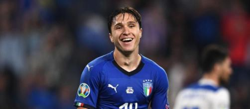 Federico Chiesa, centrocampista della Juventus.
