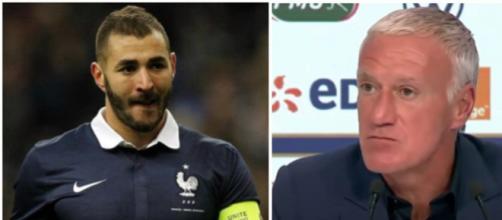 Karim Benzema n'est plus sélectionné en équipe de France par Didier Deschamps. (Montage Blasting).