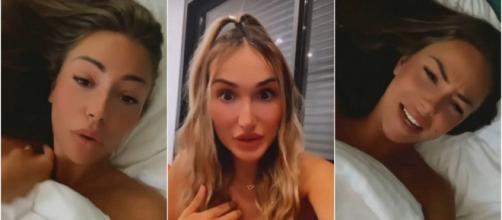 """Les Marseillais à Dubaï : Luna accuse Léna de s'être acharnée sur elle, elle dément et la traite de """"teubé"""" - Capture d'écran"""