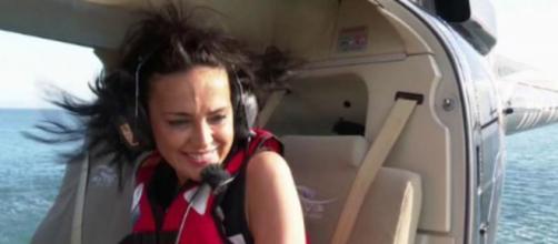 Olga Moreno se emociona al hablar de sus hijos y dedica el salto del helicóptero a su marido - (Twitter @telecincoes)