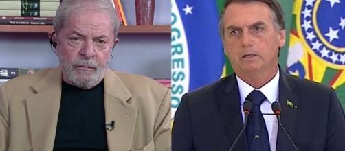 Ex-presidente Lula disparou críticas contra presidente Bolsonaro no Dia do Trabalhador. (Fotomontagem)