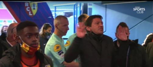 Leonardo très tendu après la victoire du PSG face à Lens. (crédit capture vidéo Canal+).