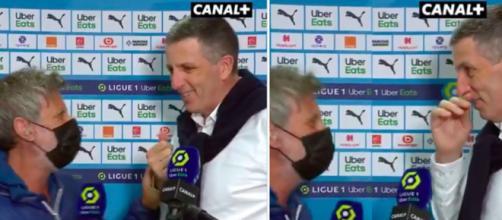 Thierry Laurey et Paganelli se moquent de Longoria et de la formation française - photos captures d'écran vidéo Twitter Canal+