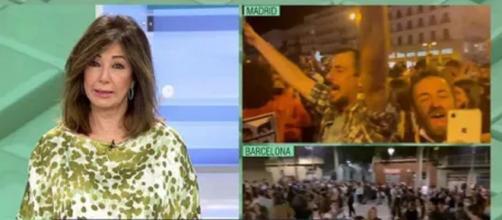 Ana Rosa, criticando las concentraciones y señalando al Gobierno (Captura de Telecinco)