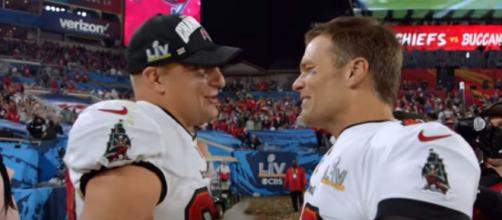 Brady and Gronk have won four Super Bowl titles as teammates (Image source: NFL/YouTube)
