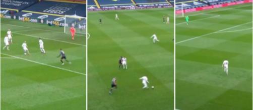 La magnifique sortie de balle de Leeds - Photo captures d'écran vidéo Twitter Leeds