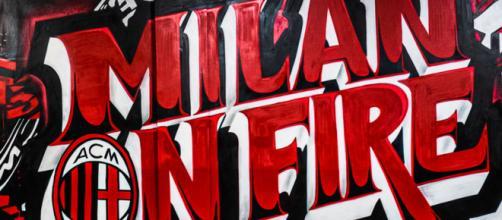 Milan on fire, murale rossonero a San Siro. FOTO | Sky Sport - sky.it