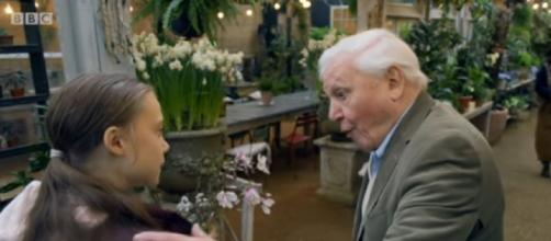 'People are listening', climate activist Greta meets Sir David Attenborough (Image source: BBC/YouTube)