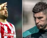 Mathieu Valbuena tacle Álvaro González qui lui répond - Photo capture d'écran Instagram des joueurs