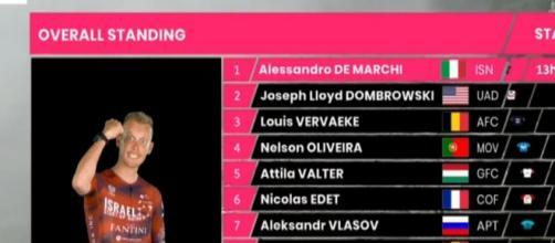 Alessandro De Marchi è la nuova maglia rosa del Giro d'Italia.