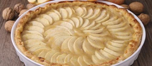 Un dolce di mele senza uova e senza burro.
