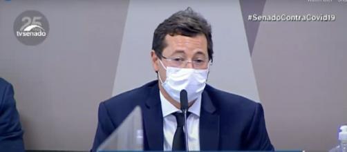 Depoimento de Fabio Wajngarten é o mais tenso da CPI da Covid até o momento (Reprodução/TV Senado)