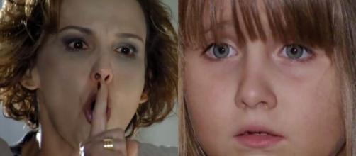 Eva e Júlia em 'A Vida da Gente' (Fotomontagem/Reprodução/Rede Globo)