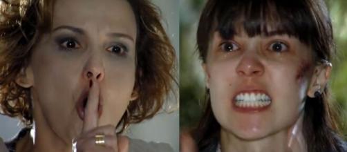 Eva e Manu em 'A Vida da Gente' (Fotomontagem/Reprodução/Rede Globo)