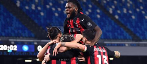 Serie A, un'esultanza del Milan.