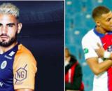 Andy Delort tacle Kylian Mbappé - Photo captures d'écran Instagram Delort et Mbappé