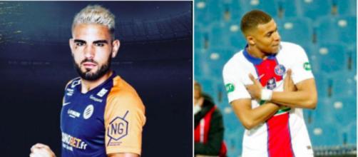 Andy Delort tacle Kylian Mbappé - Photo captures d'écran Instagram Delort et Mbappé