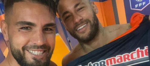Montpellier - PSG : Neymar et Delort font la paix (Photo : Twitter officiel d'Andy Delort)