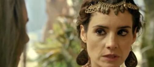 Ayla virará estátua em 'Gênesis' (Reprodução/Record TV)