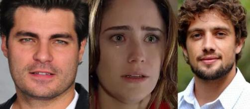 Lúcio, Ana e Rodrigo em 'A Vida da Gente' (Fotomontagem/Reprodução/Rede Globo)