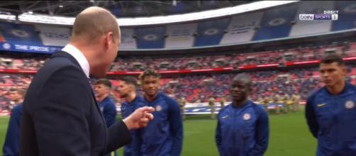 Le Prince William fan de N'Golo Kanté - Photo capture d'écran vidéo Bein Sport