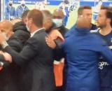 Yannick Cahuzac et Paul Baysse énervés après le match entre Bordeaux et Lens. (crédit Canal+ match FCGB-RC Lens)